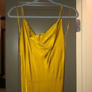 Beautiful gold/mustard bias cut/ slip dress